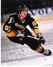 Jaromir Jagr Pittsburgh Penguins Black Jersey Autograph 8x10 Photo JSA Verified