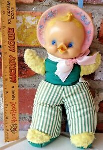 Vintage Ideal And Not A Rushton Rubber Headed  Early Bird Easter Parade Chick!
