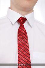 garçons rouge à rayures cravate