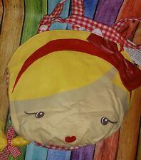 NWT HARAJUKU Mini strawberry Blonde Girl Circle Bag purse checkered handles
