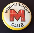 Vintage Badge MINIBRIX MINIBUILDERS CLUB Construction Toy 3cm Pin