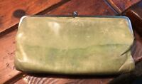 Original HOBO INTERNATIONAL LAUREN Wallet Clutch Green Repair Needs Work