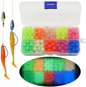 1000pcs Fishing Beads Lure 5mm Luminous Fishing Floats Glow Beads Carp Fishing