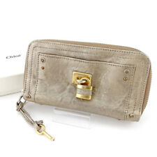 Chloe Wallet Purse Paddington Gold Silver Woman unisex Authentic Used L2023