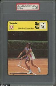 1977-79 Sportscaster Tennis #34-21 Martina Navratilova Italy PSA 8.5 NM-MT+