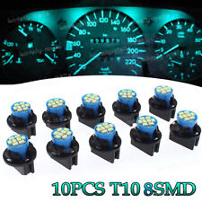 10x Ice Blue T10 8SMD LED Instrument Panel Dashboard Lights + Holder for Toyota