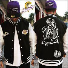 Chaqueta sudadera Laikers L.A black mamba negra kobe bryant 24 nba logos bordado