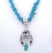Jeff James Jr.Sterling Silver Story Teller Pendant & Necklace Set --- P63 T