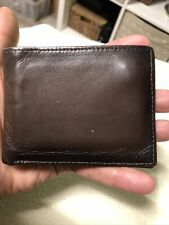 Perry Ellis Portfolio Gentlemans Dark Brown Leather Bifold  Wallet.