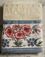 ATELIER MARTEX 2 NEW STANDARD PILLOWCASES CALLED FLORAL ROANOK