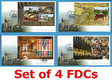 2017 WINDSOR CASTLE *SET of 4* Prestige Booklet PSB Pane FIRST DAY COVERS FDCs
