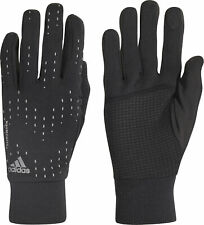 adidas ClimaWarm Running Gloves Black Breathable Insulated Fleece Mens Womens