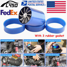 1pc US Air Intake Double Turbine Turbo SuperCharger Gas Fuel Saver Fan Charger