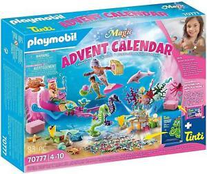 Playmobil 70777 Magic Magical Mermaids Advent Calendar with Pink Bubble Bath NEW