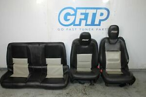 10-15 CHEVROLET CAMARO SS COMPLETE SEAT SET FRONT REAR LH RH BLACK LEATHER OEM