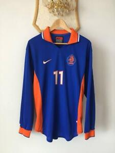 NETHERLANDS HOLLAND 1997 1998 FOOTBALL SHIRT JERSEY LONG SLEEVE NIKE MATCH WORN!