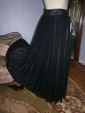 NWT $159.00 Jones New York Part Maxi Long Skirt Sz 8 Sheer Black Gray Lines Full