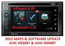 PIONEER AVIC-X930BT 2015 MAPS UPDATE UPGRADE + SOFTWARE 6.0 // BLUETOOTH 3.32
