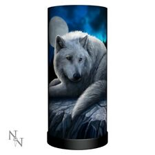 Guardian of the North Wolf Lamp By Lisa Parker UK Plug Gothic Animal Room Decor