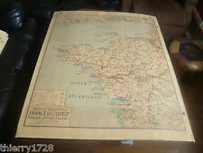 CARTE VIDAL LABLACHE N° 60 FRANCE DE L'OUEST PHYSIQUE / POLITIQUE