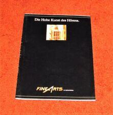 Grundig Fine Arts Prospekt - Esoteric Pre, Esthet, Event, 9000, 9009, Transrotor