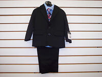 Infant/Toddler/Boys Nautica $79.50-$89.50 Black/Light Blue 4pc Suit Size 12m - 7
