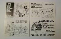 4 carte postale Angoulême grands prix Pellos Reiser Marijac Moebius  76 78 79 81