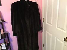 Long Faux Fur Coat Size L