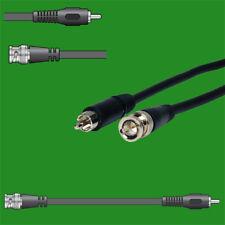1x 1.5m BNC Spina a Fono RCA Video CCTV Coax Adattatore Spina Del Cavo Di Piombo fotocamera