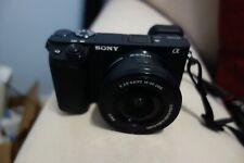 SONY A6400 Mirrorless Cam w/16-50mm F3.5-5.6 Lens shutter ct 431 64gb card