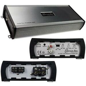American Bass PH-4000.1 MD V2 Amplifier 1 Ohm Stable 2000W RMS/4000W Max