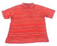 Patagonia Mens X-Large 100% Organic Cotton Striped Short Sleeve Polo Shirt