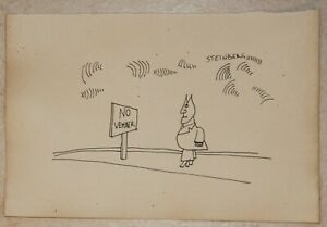 Ink drawing signed SAUL  STEINBERG