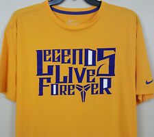"Nike Kobe Bryant ""Legends Live Forever"" Shirt Gold Purple 465630-710 (Size 3Xl)"