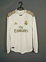 Real Madrid Jersey Authentic 2019 Long Sleeve SMALL Shirt Adidas DW4437 ig93