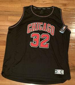 Chicago Bulls Kris Dunn Fanatics Fast Break Replica Black Jersey NWT 2XL XXL