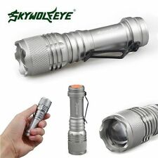 Super Bright 8000LM XML Q5 AA/14500 3 Modes Zoomable LED Flashlight Torch Lamp