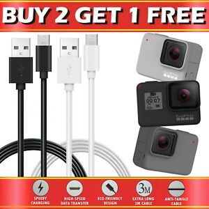 For GoPro Hero 5 6 7 8 9 Go Pro Type-C USB Data Sync Charger Charging Cable Lead