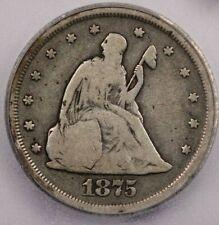 1875-S 1875 20 Cent 20c ICG VG8