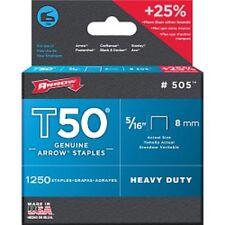 "ARROW GENUINE T50 HEAVY DUTY Staples 8mm 5/16"" box 1250"