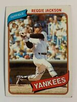 1980 Reggie Jackson # 600 New York Yankees Topps Baseball Card HOF