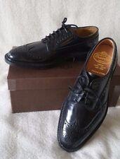 Church's Grafton Wingtip Brogue Black 7F UK  8M US Leather Custom Grade Derby