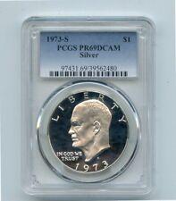 1973-S Silver Eisenhower Proof Dollar (PR69DCAM) PCGS