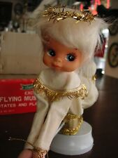 Vintage Flying Musical Angel by Santa Creations plays Silent Night Original box