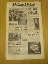 MELODY MAKER 1954 MAY 22 JACK PAYNE TED HEATH PARIS JAZZ FAIR DICKIE VALENTINE