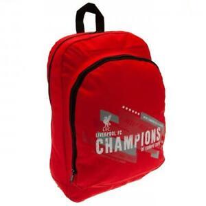 Liverpool FC Champions of Europe Bag Backpack Rucksack School Gym Kids Adults