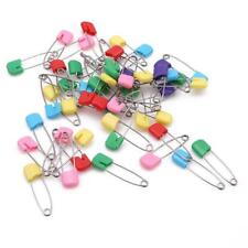 50X Colorful Stainless Steel Baby Infant Safety Pins Diaper Nappy Pins Head YS