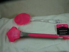 Cupcake Silicone Spatula New & Cupcake Silicone Tongs Pink 10""