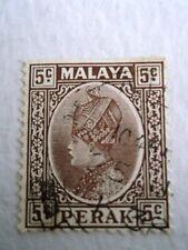 1935 Perak Sultan Iskandar 5c Brown used Mi.45. Z40