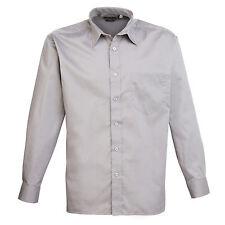 Mens Long Sleeve Shirt Business Work Smart Formal Casual Dress Shirt 24 Colours